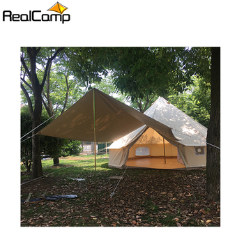 2019 Factory Hot Sale bell tent 6m bell tent stove jack with awning