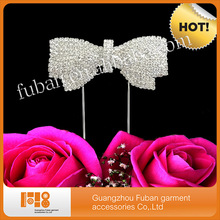 Rhinestone Crystals Bowknot Cake Topper Wedding Centerpieces For Tables/ Party Accessory