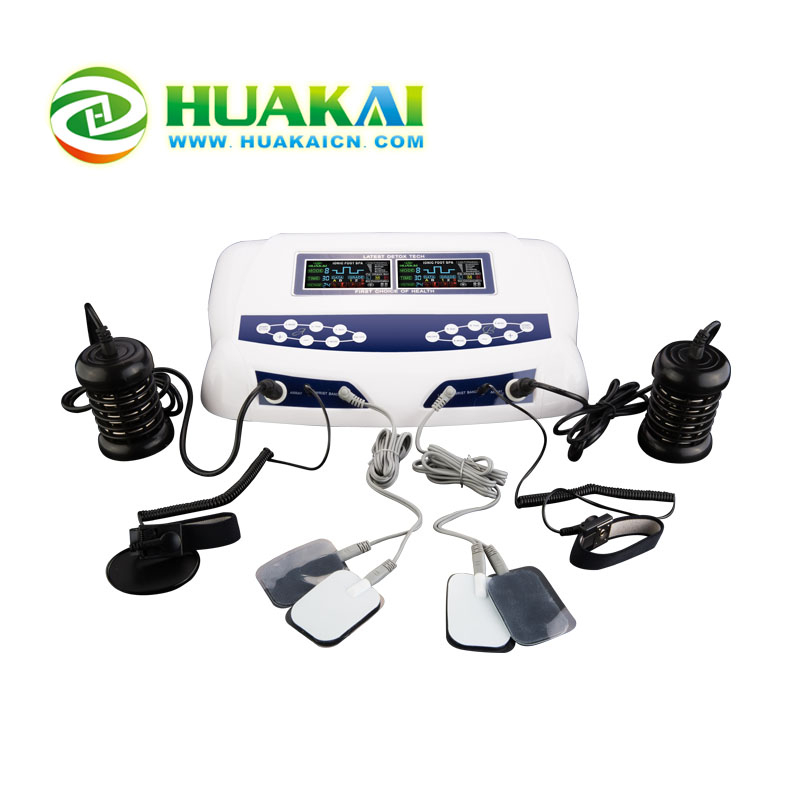 HK-805D Infrared and Acupunture function body cleanse detox machine for double persons use