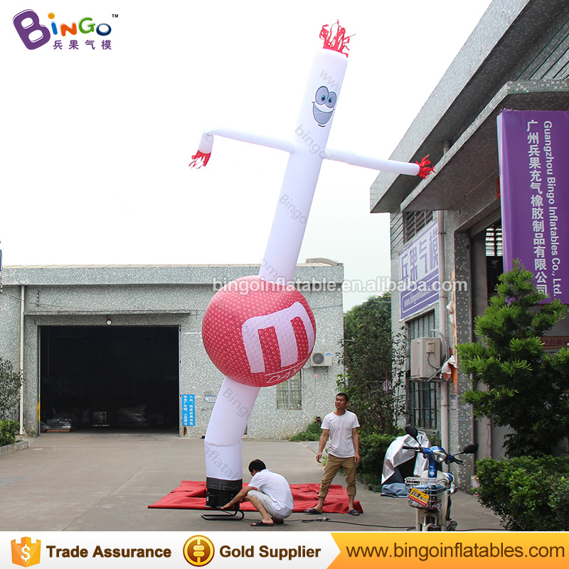 M Day catoon balloon inflatable air clown dancer with blower