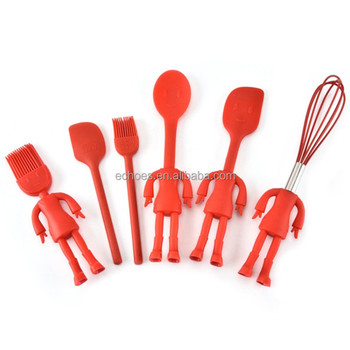 Lovely Shape Silicone Kitchen Gadgets Names Of Utensil Set