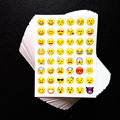 One Sheet 48 Stickers Hot Popular Sticker 48 Emoji Smile Face Stickers For Notebook Message Twitter