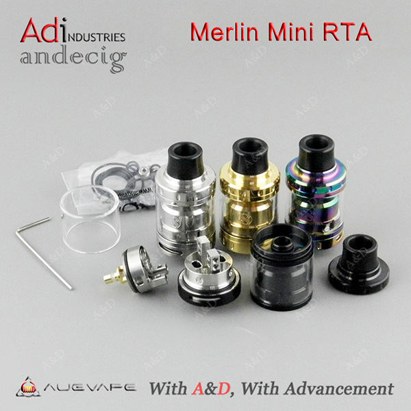 AUGVAPE Merlin Mini RTA Tank Original by Augvape FOR SMOK GX2 4 BOX MOD