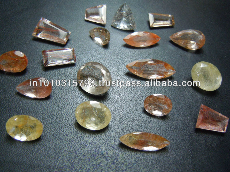 Copper Rutilated Quartz Gemstone Cut Stone Wholesale Lot
