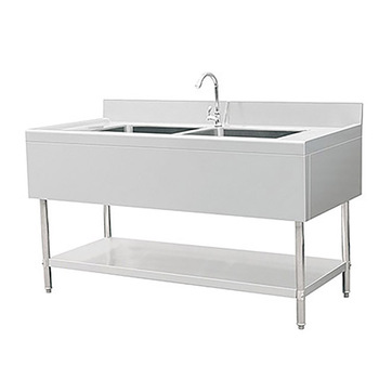 Commercial Kitchen Stainless Steel Sink Work Table With Splash And Under  Shelf - Buy Kitchen Work Table,Kitchen Sink,Stainless Steel Kitchen Sink ...