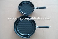Carbon steel non stick frying pan set cookware stock