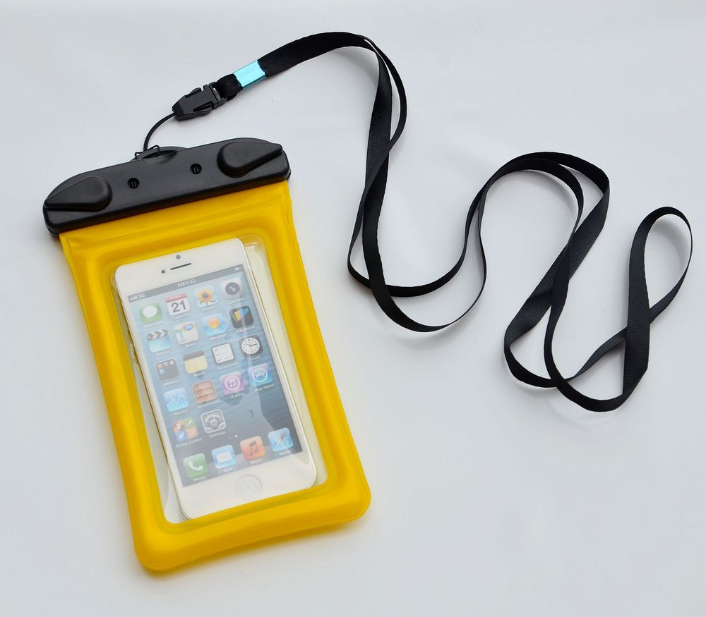 PVC custom mobile phone pouch for Samsung and iphone floating waterproof bag