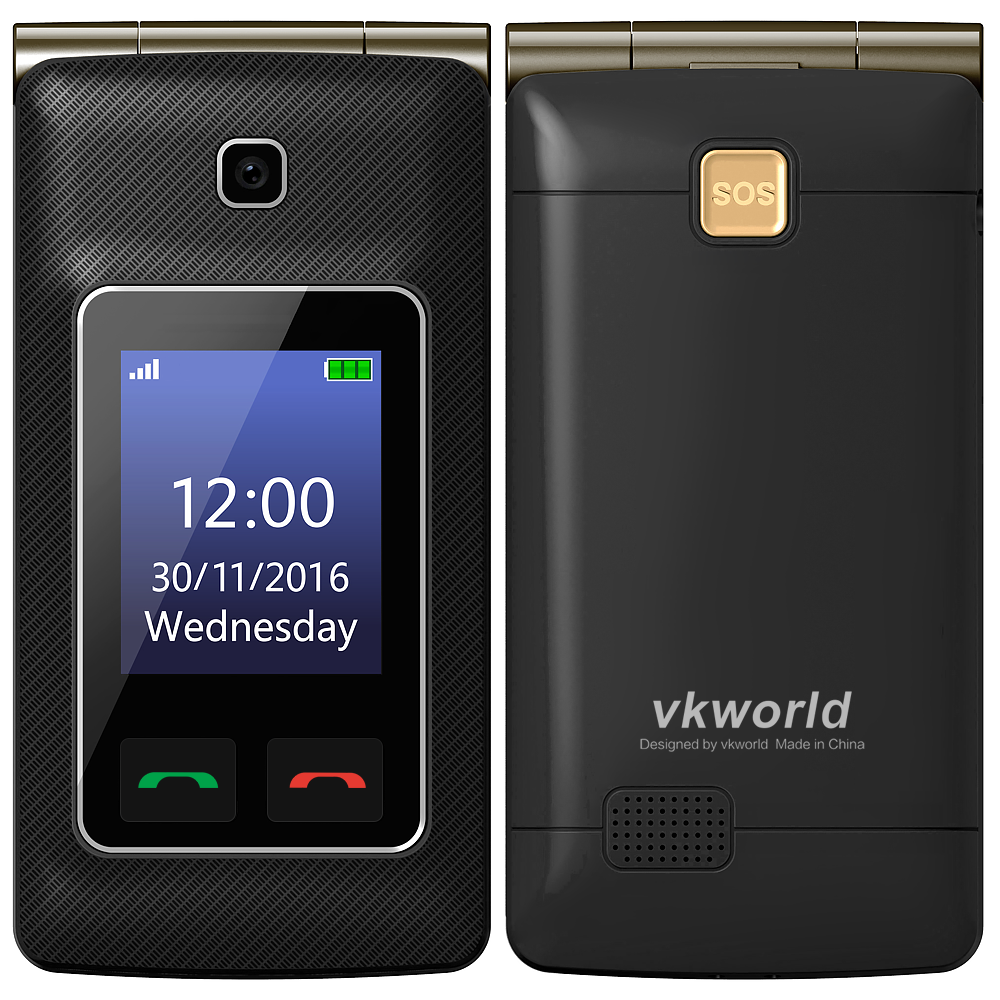VKWORLD Z6 Custom Telephone Cellula 4G lte ANDROID Folding Phone  2.4 inch Whatsapp  Flip Mobile Phone