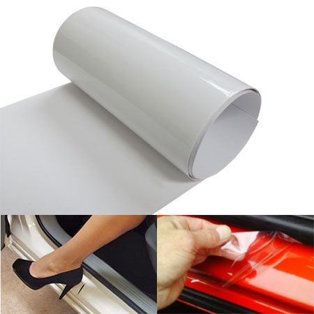 iJDMTOY 6 by 60 Inches Clear Door Sill Paint Protection Scratch Film Vinyl Sheet
