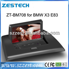 "ZESTECH 2 din 7"" Touch Screen TV/3G/Dvd player/bluetooth/GPS/DVB for BMW X3 E83 car dvd gps navigation"