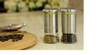 stainless steel Salt and Pepper Shakers