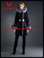china lady vintage slim fit duck down jacket with shiny snap button