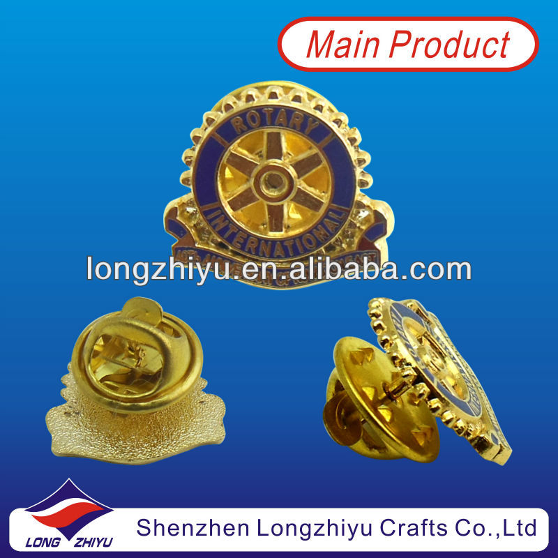 New Arrival Rotary Lapel Pins For Free Delicate Design Souvenir Brass Bullion Badges Medallion Manufacturers
