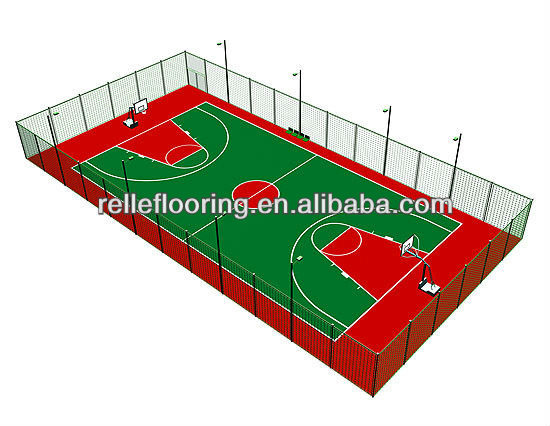 pvc flooring for sports or gym court with easy installation and excellent resilient