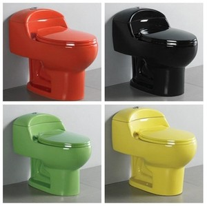 Popular economic decorated colored cheap price colorful toilet bowl for south American