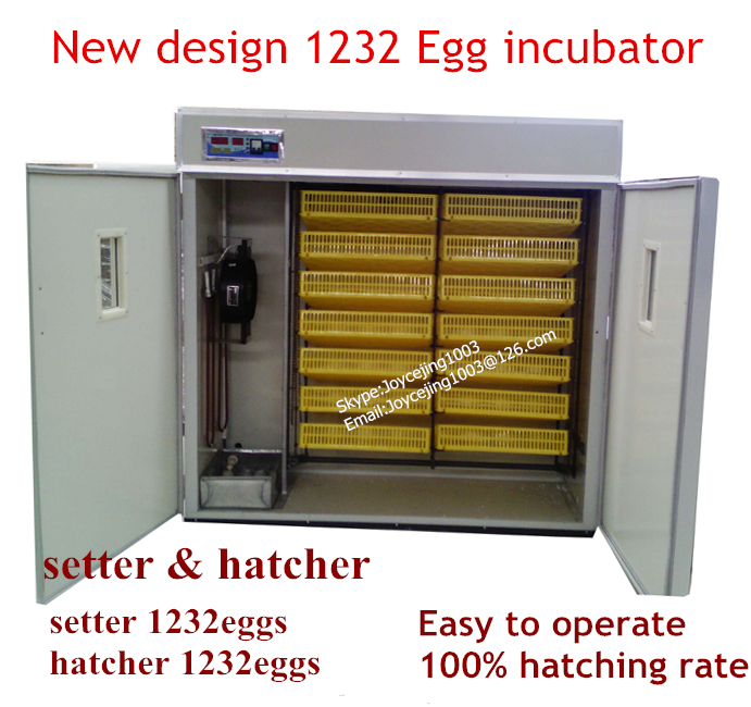 1232 chicken eggs commercial incubator/setter/hatcher (whatsapp:0086-15266968635)