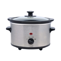 Ceramic Inner Pot Slow Cooker with Tempered Glass