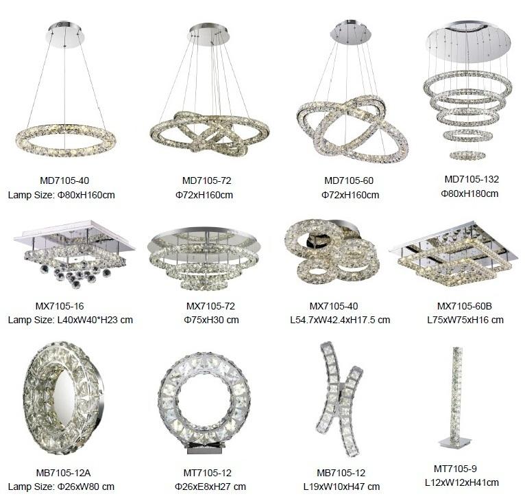 맞춤형 샹들리에 펜던트 조명 실내 크리스탈 샹들리에 현대 펜던트 램프 홈 장식