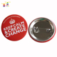 round metal safety pin magnetic school badges