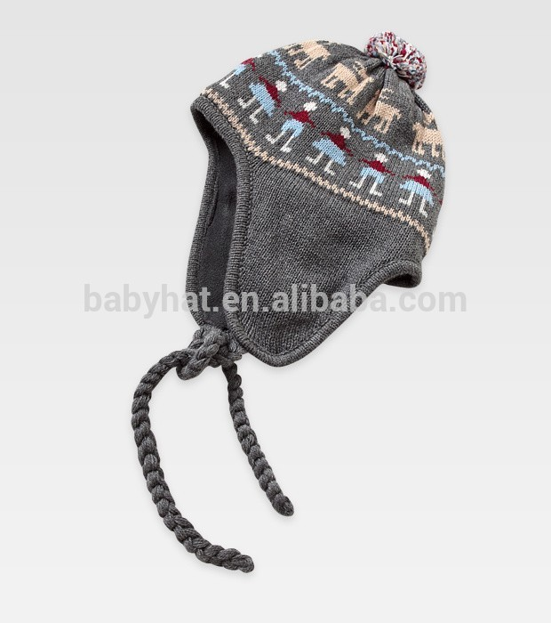 cráneo divertido bebé ganchillo beanie chico con sombrero de paño ...