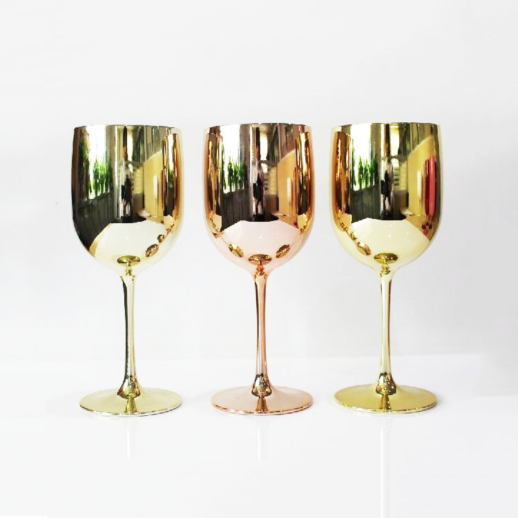 Wholesale Brand Customized Gold Plating BPA Free Plastic Moet <strong>Glass</strong> For Champagne Moet Chandon