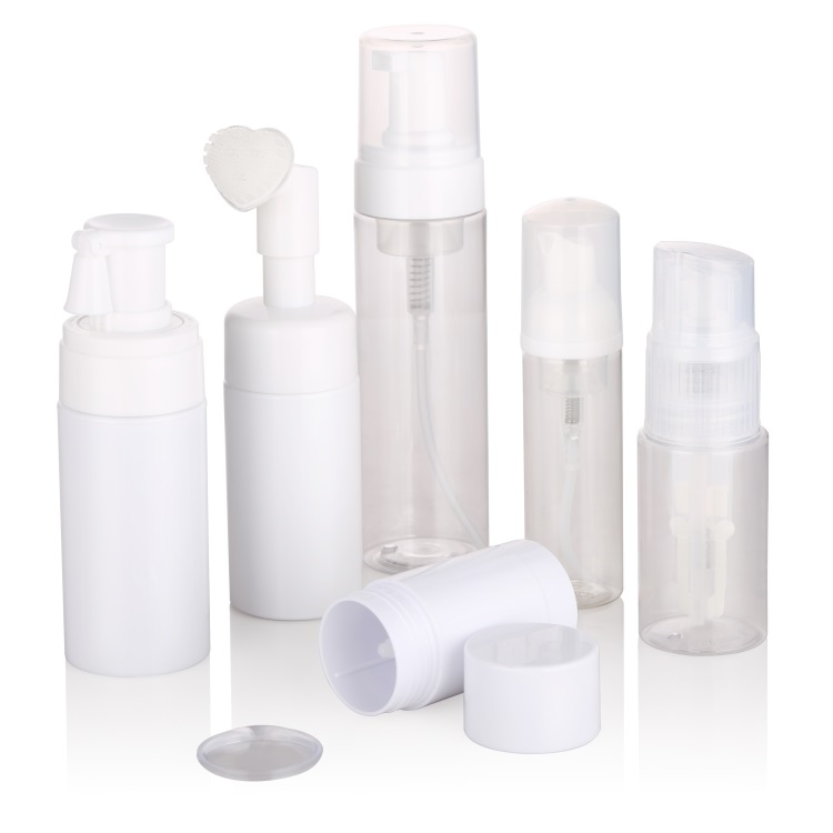 New products 30ml  foam bottle cosmetic jar plastic with foam lotion pump