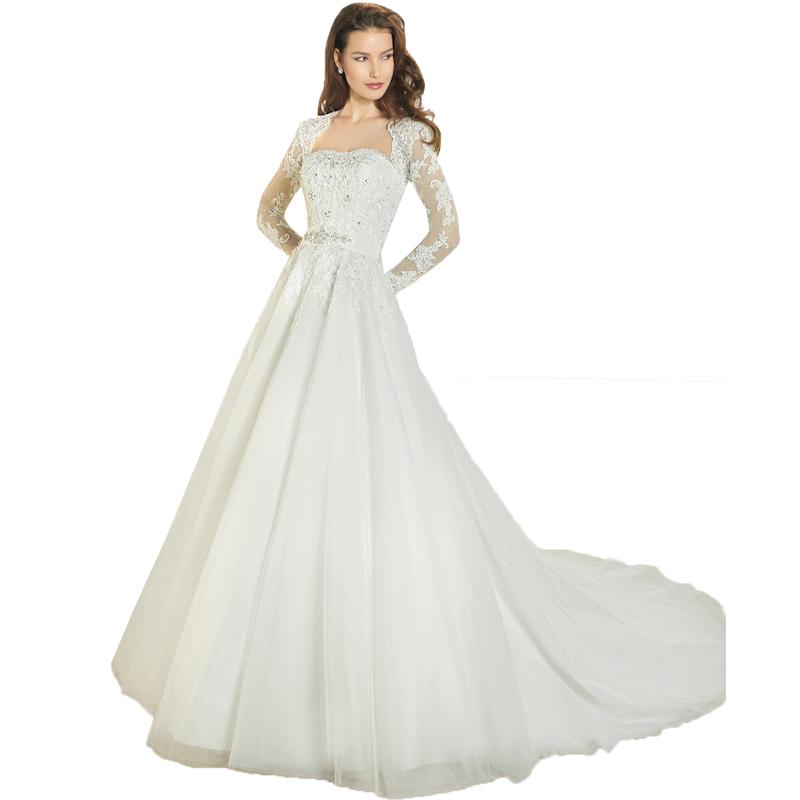 3f7d01b61c9e Get Quotations · 2015 Elegant Long Sleeves Lace Wedding Dresses Vestido de  Noiva Plus Size Applique Backless Bridal Gowns