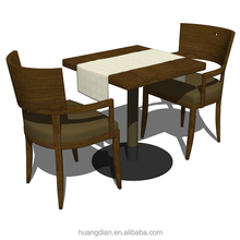 Customized picture of furniture designs durable restaurant table and chairs set for sale