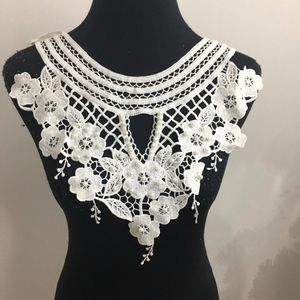 New fashion design milk silk pearl beads lace collar