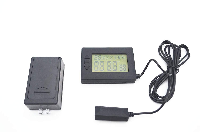 MOTO4U Motorcycle Lap Timer Infrared Timekeeper Transmitter Receiver For Racing Track Day In Black
