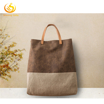 4d9ffd57bb Stylish Designer Handbags Wholesale China Handles Plain Canvas Tote Leather  Bag Manufact In Shenzhen