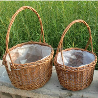 2016 new design cheap cane basket from linyi lucky hadicraft factory
