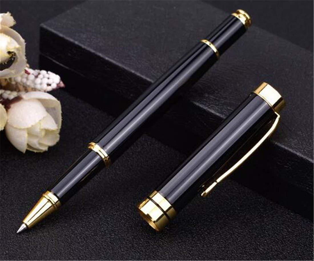 Heyuni.1PC Fountain Pen Fine Nib Writing Gift Advanced Pen with Ink Refill Converter Signature Collection,Black
