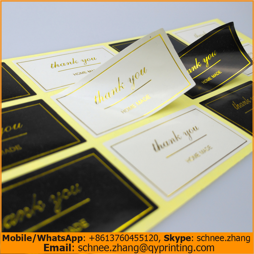 Hot stamping adhesive label quality seal sticker Stock item mark