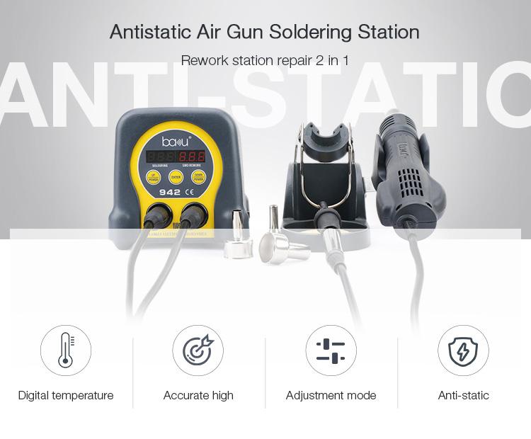 BAKU ba-942 hot selling led bga smd hot air desoldering station