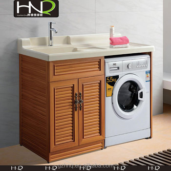 Premium Quality Bathroom Laundry Vanity Built In Washing Machine Cabinet  And Dryer Cabinet For Bathroom