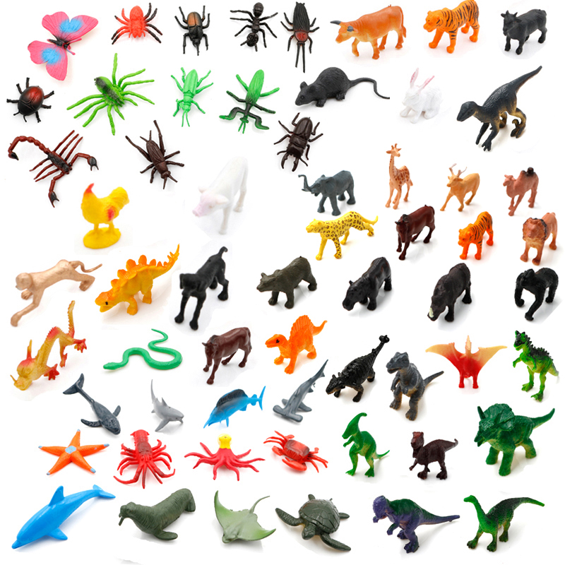 Plastic PVC assorted animals mini <strong>toy</strong> for vending machine wild animals dinosaur ocean <strong>toy</strong> cheap sale in bulk
