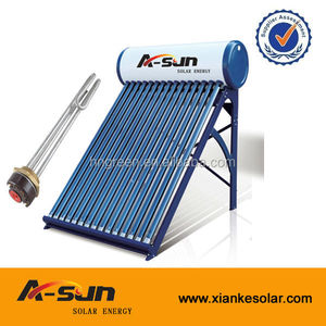 Indoor high quality low pressurized galvanized steel water solar heater