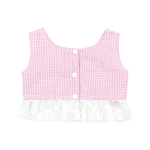 Checked baby clothes set clothing two piece set gril clothing matching set clothing pink