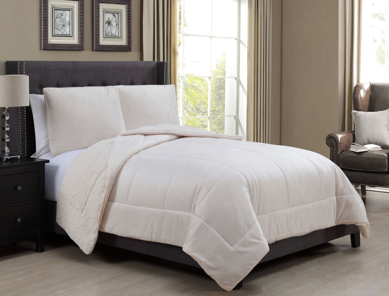 home ivory bedspread taupe comforter marilyn com full westpointhome ivorytaupe nostalgia