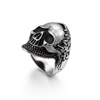 Wholesale Sharp Claw Skull Ring For Men's Jewelry & Kalen Punk Stainless Steel Silver