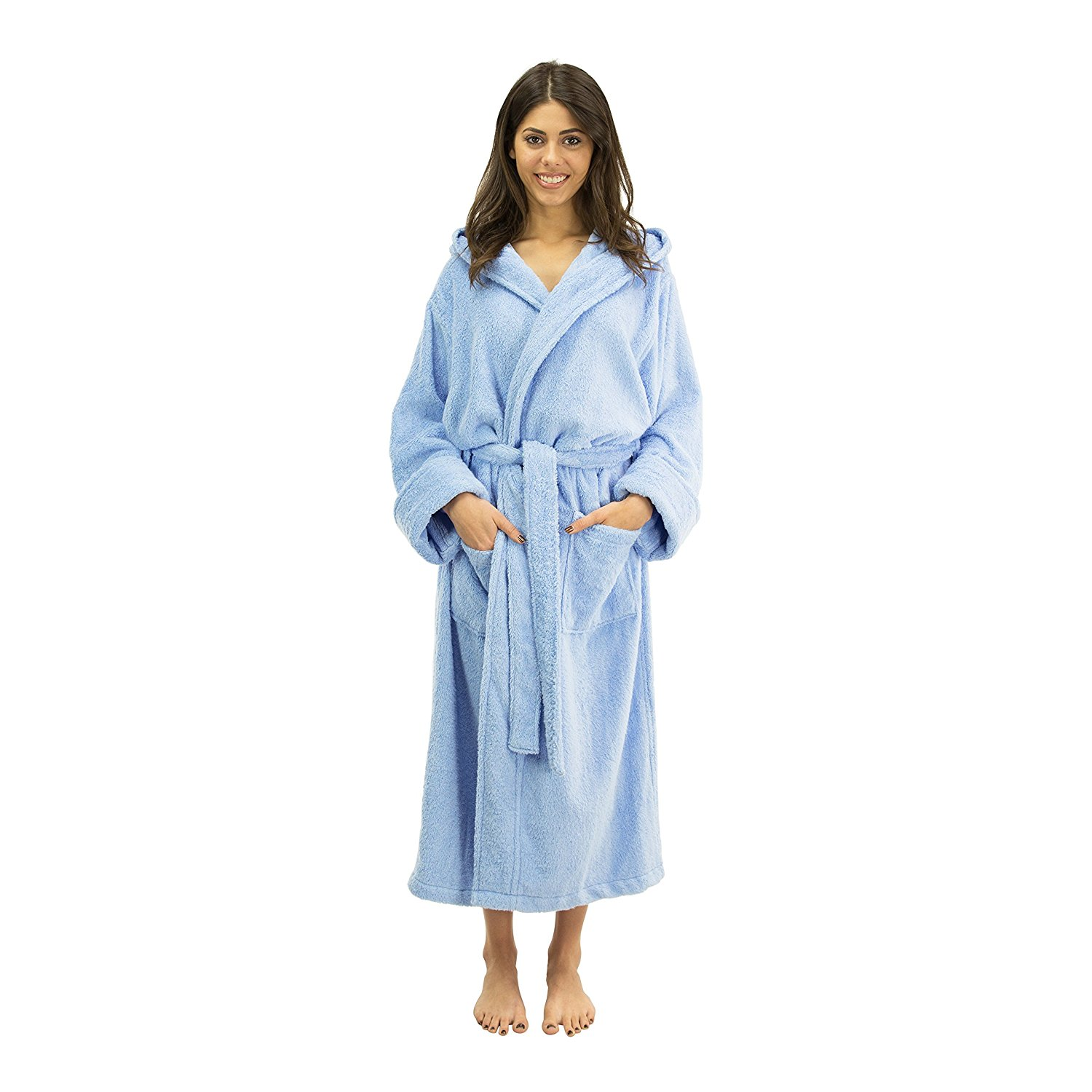 Ultra Soft 100/% Bamboo Kids Bathrobe Blue-Yellow High Absorbency