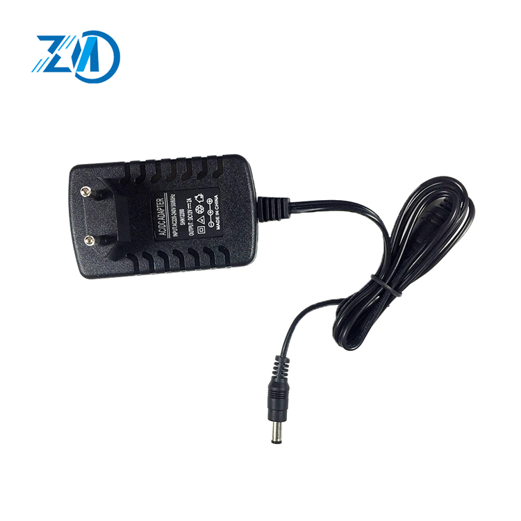 Factory supply price 24W 12V 2A 5.5*2.5 quick charge wall charger for LCD
