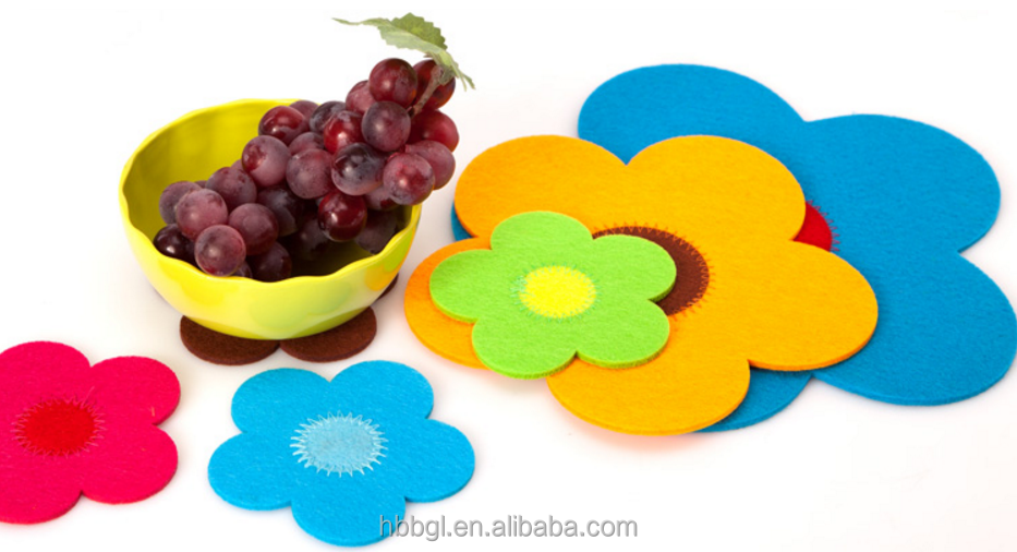 Custom 3mm dining handmade felt table mat/soft kids table mats of China