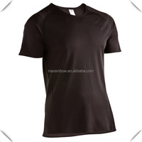 plain design blank black dri fit t-shirts wholesale for sports custom made with raglan sleeve coverstitched cheap price