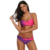 Tie Dye Bikini Womens Swimwear Push Up Twist Cup Top