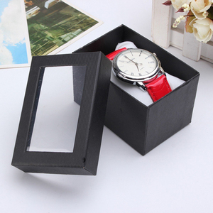 hot sale watch display box gift boxes clear lid customized