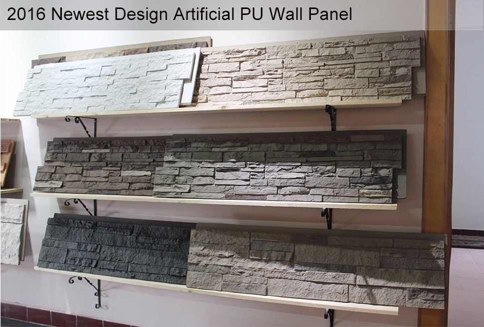 Factory price light weight durable exterior polyurethane 3d faux stone wall siding panel