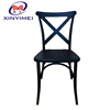 New coming colorful knockdown plastic X back chair