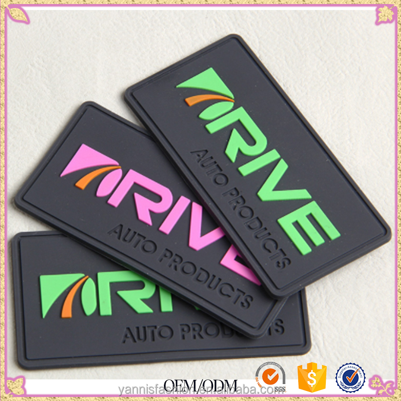 Wholesale clothing Cartoon Rubber Label Clothing Label For Garment 3D Pvc Custom Badge Soft Jeans Patch Brand Logo
